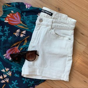 White Denim Jean High Waisted Shorts Size 24 / 00